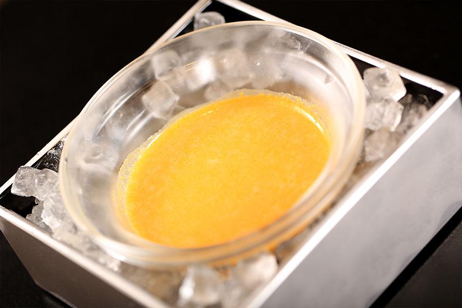 冷製かぼちゃのクリームスープ